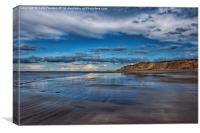 West Runton Beach Norfolk, Canvas Print