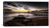 Sunrise over Southwold pier 2, Canvas Print