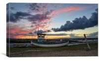 Colours of sunset - Brancaster Staithe , Canvas Print