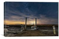 Moored under the stars at Brancaster Staithe , Canvas Print