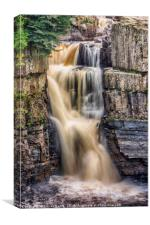High Force, River Tees, Canvas Print