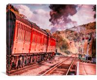 Steaming down the Infinity Line, Canvas Print