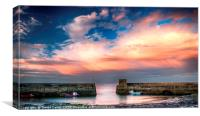 Craster Harbour, Canvas Print