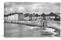 Hartlepool Town Wall - High Tide - Toned, Canvas Print