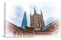 The Shard and Southwark Cathedral, Canvas Print