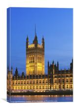 The house of parliament in London, Canvas Print