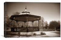 Band stand in sepia, Canvas Print