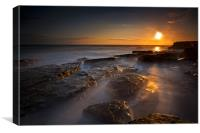 Sunset at Dunraven Bay, Canvas Print