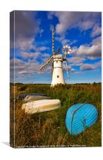 Thurne Dyke Windpump, Norfolk, Canvas Print