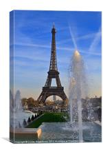 The Eiffel Tower from Trocadero, Canvas Print