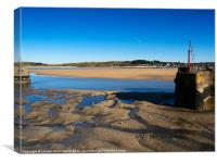 Padstow harbour at low tide, Canvas Print
