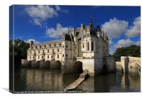 Chateau Chenonceau, Loire Valley, France, Canvas Print