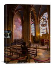 Interior of Notre Dame Cathedral, Paris, Canvas Print