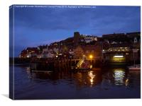 Whitby Lower Harbour and the RNLI Lifeboat Station, Canvas Print