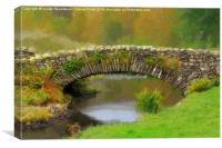 Stone packhorse bridge in Watendlath, Canvas Print