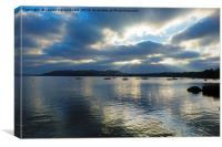 Evening on Windermere, Lake District, Cumbria, Canvas Print