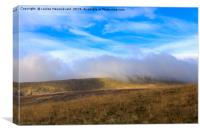 Mist over the hills east and south of the Ribble V, Canvas Print