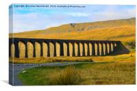 Ribblehead Viaduct in late autumn, North Yorkshire, Canvas Print