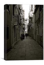 Back streets of Venice, Canvas Print