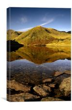 Lingmell end reflection, Canvas Print