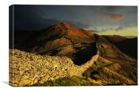 Sunrise over high pike, Canvas Print