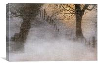 A winters glow, Canvas Print
