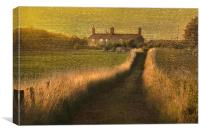 At the end of the lane, Canvas Print