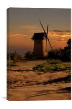 Bidston hill windmill, Canvas Print