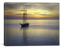 Tall Ship sunrise, Canvas Print