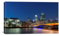 London Bridge by Night, Canvas Print