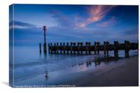 Bridlington Groyne North Bay, Canvas Print