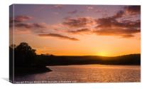 Sunset on Damflask Reservoir, Canvas Print