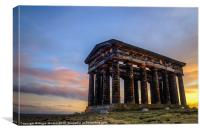 Penshaw Monument Sunset 3, Canvas Print