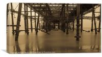 Derelict Hastings Pier, Canvas Print