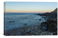 Seaham Beach Moonrise, Canvas Print