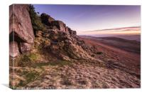 Sunset Stanage Edge, Canvas Print