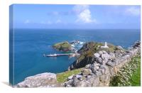 Lundy Island Harbour, Canvas Print