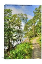 Loch Lomond Path, Canvas Print