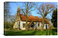 Tolleshunt Knights Church, Canvas Print
