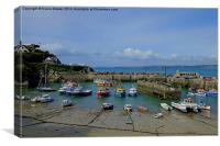 Newquay Harbour, Canvas Print