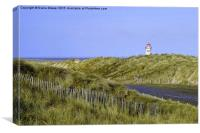 Talacre Dunes and Lighthouse, Canvas Print