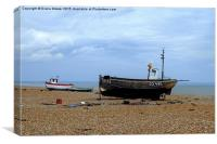 Dungeness Fishing Boats, Canvas Print