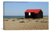 Red Roofed Hut, Rye Harbour, Canvas Print
