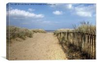 Mablethorpe beach Lincolnshire, Canvas Print