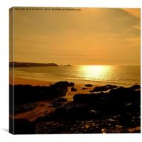Fistral Beach Sunset  , Canvas Print