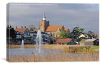 St Mary's church Maldon, Canvas Print
