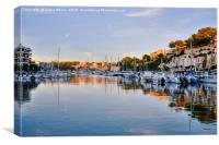 Porto Cristo Sunset, Canvas Print