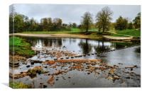 The River Wharfe Stepping Stones, Canvas Print