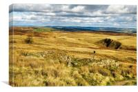 Middle Withens, Stanbury Moor, Canvas Print