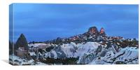 Dark over Uchisar, another planet, Canvas Print